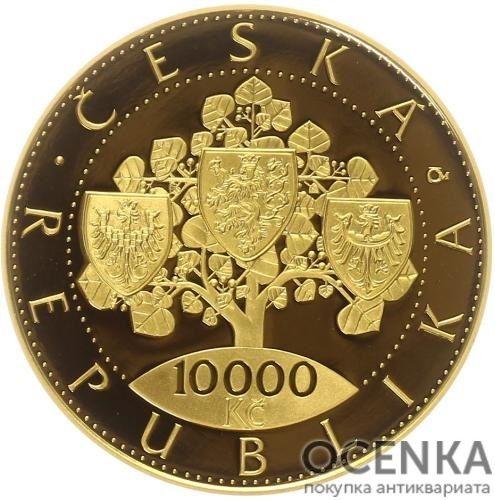 Золотая монета 10 000 Крон (10 000 Korun) Чехия - 5