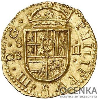 Золотая монета 2 Эскудо (2 Escudos) Испания - 1