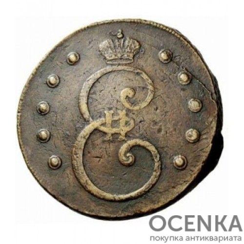 Медная монета 10 копеек Екатерины 2 - 1