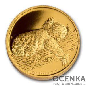 Золотая монета 200 долларов 2012 год. Австралия. Коала