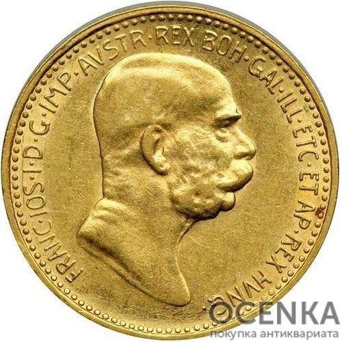 Золотая монета 10 крон Австро-Венгрии - 5