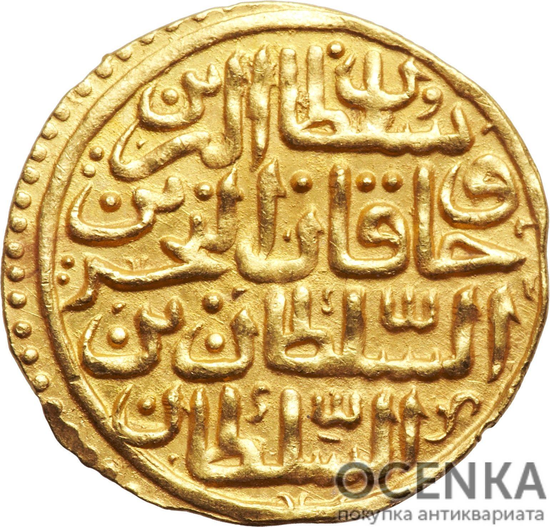 Золотая монета 1 Султани (1 Sultani) Египет - 4