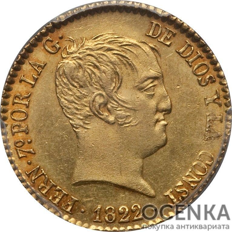 Золотая монета 80 Реалов (80 Reales) Испания - 3