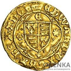 Золотая монета ¼ Ryal (1/4 райола) Великобритания - 1