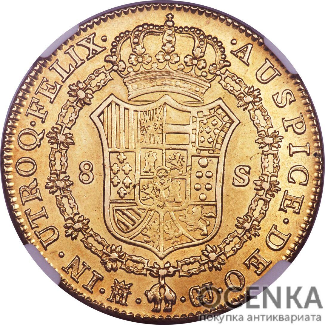 Золотая монета 8 Эскудо (8 Escudos) Испания - 6