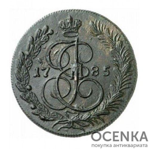 Медная монета 5 копеек Екатерины 2 - 1
