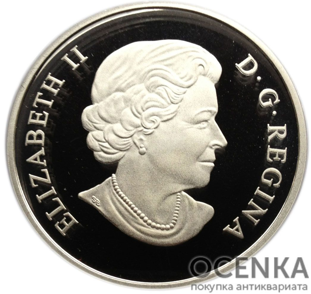 Серебряная монета 25 Долларов Канады - 1