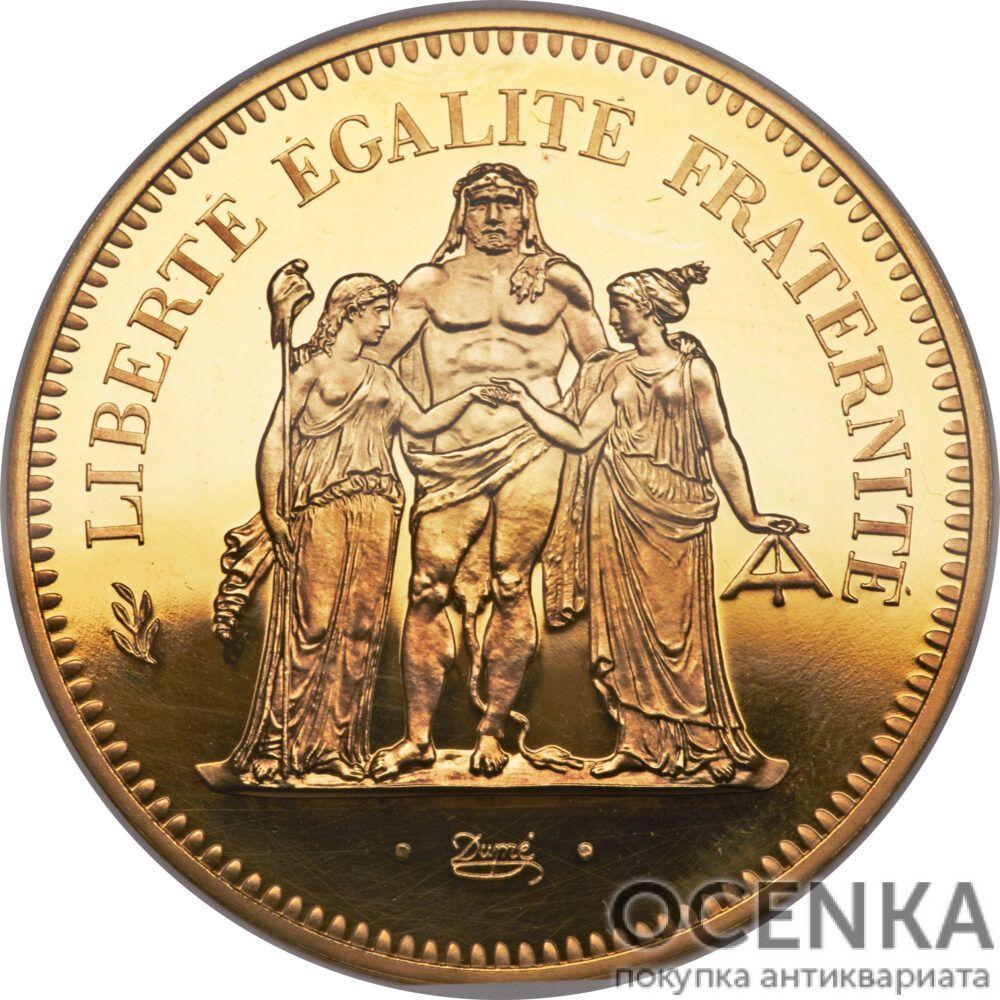 Золотая монета 50 Франков (50 Francs) Франция - 5