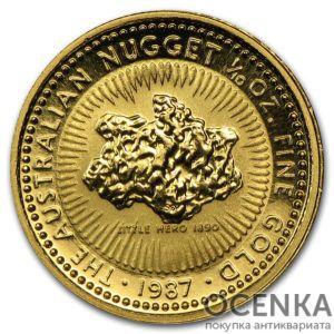 Золотая монета 15 долларов 1987 год. Австралия. Самородки