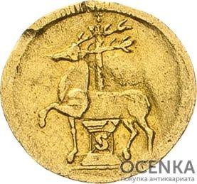 Золотая монета ⅛ Дуката Германия