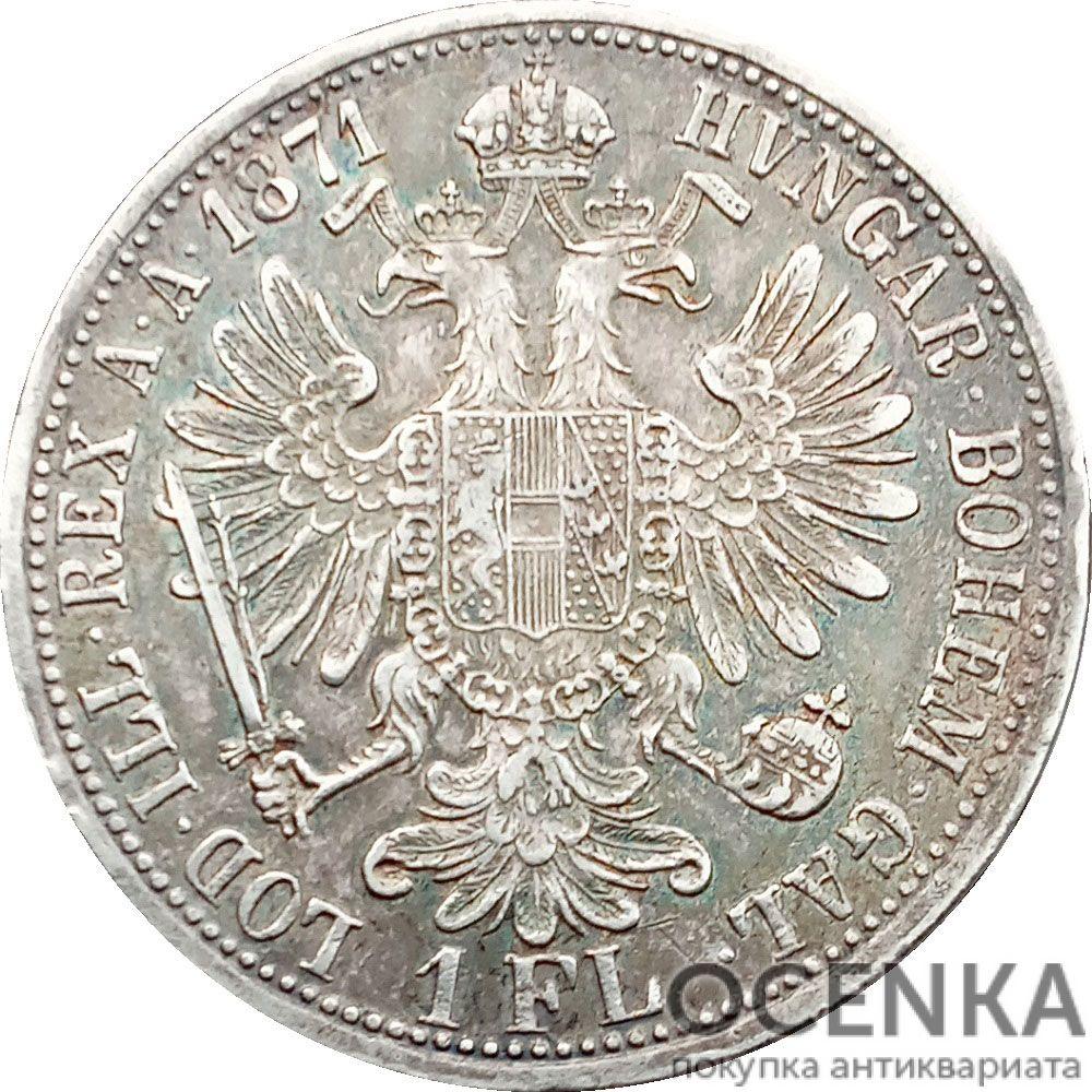 Серебряная монета 1 Флорин (1 Florin) Австро-Венгрия