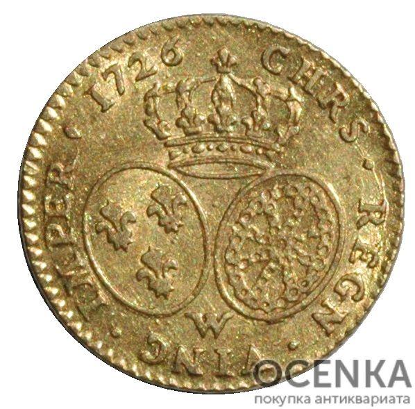 Золотая монета ½ Дьёра (½ d'Or) Франция - 4