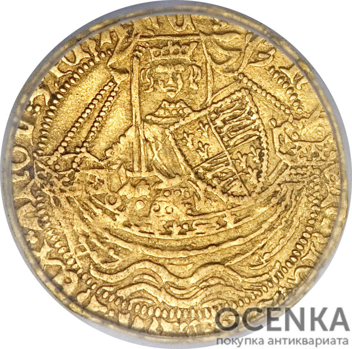 Золотая монета ½ Noble (1/2 нобля) Великобритания - 5