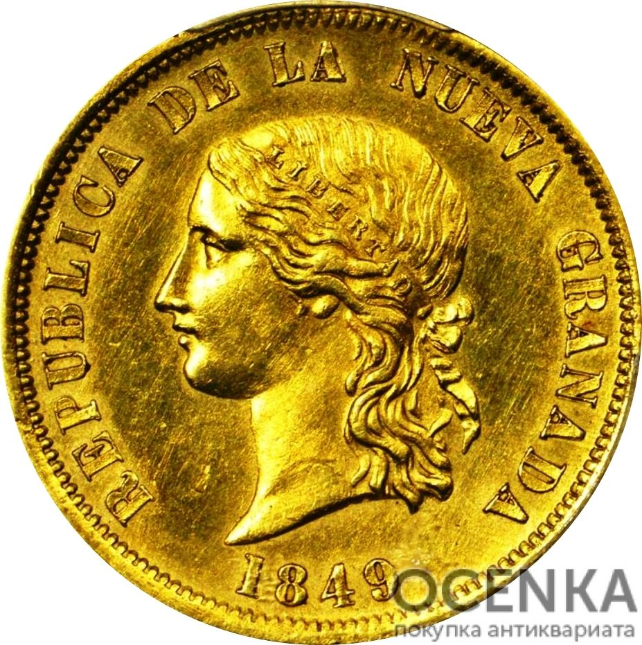 Золотая монета 16 Песо (16 Pesos) Колумбия - 3