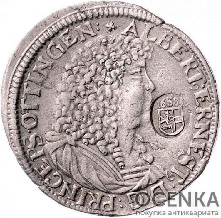 Серебряная монета Гульден Средневековой Германии - 7