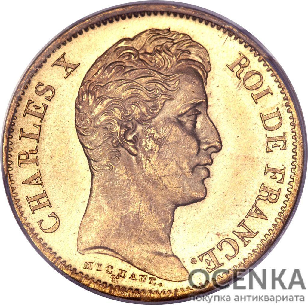 Золотая монета 40 Франков (40 Francs) Франция - 5
