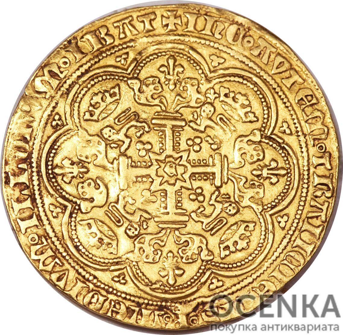 Золотая монета 1 Noble (нобль) Великобритания - 1