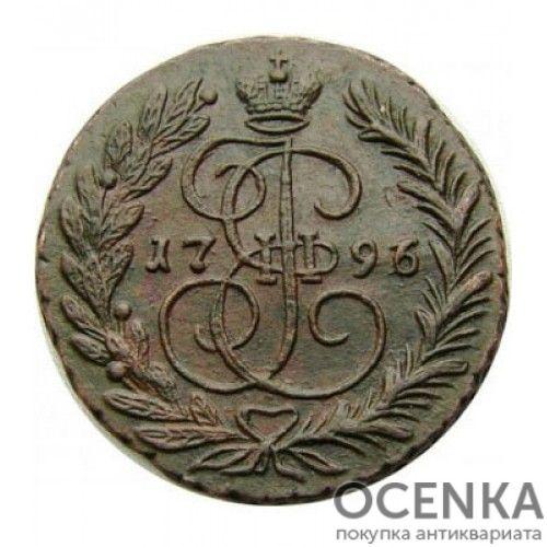 Медная монета 2 копейки Екатерины 2 - 1