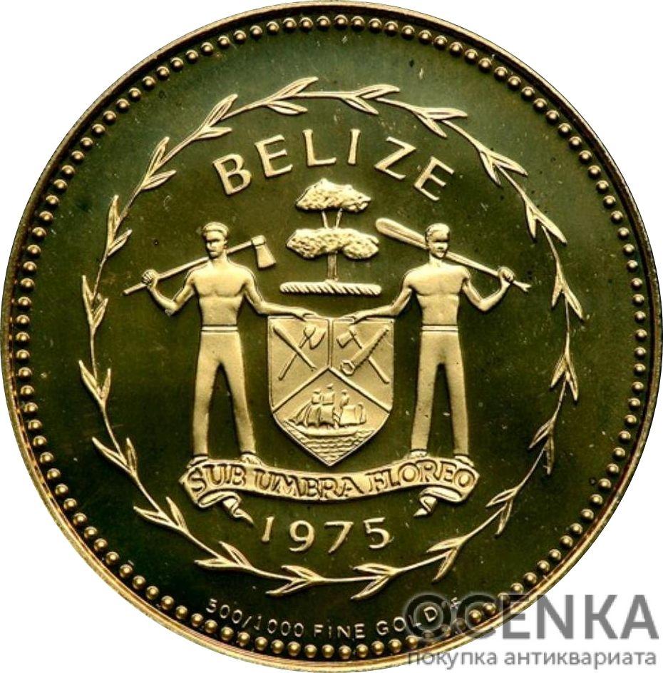 Золотая монета 100 долларов Белиза