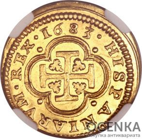 Золотая монета 1 Эскудо (1 Escudo) Испания - 2