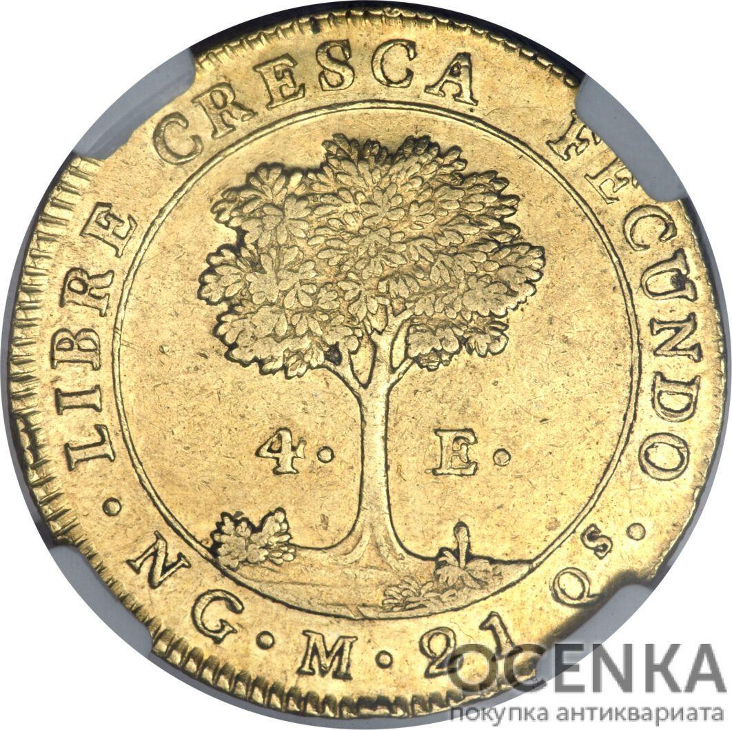Золотая монета 4 Эскудо (4 Escudos) ЦАР - 2