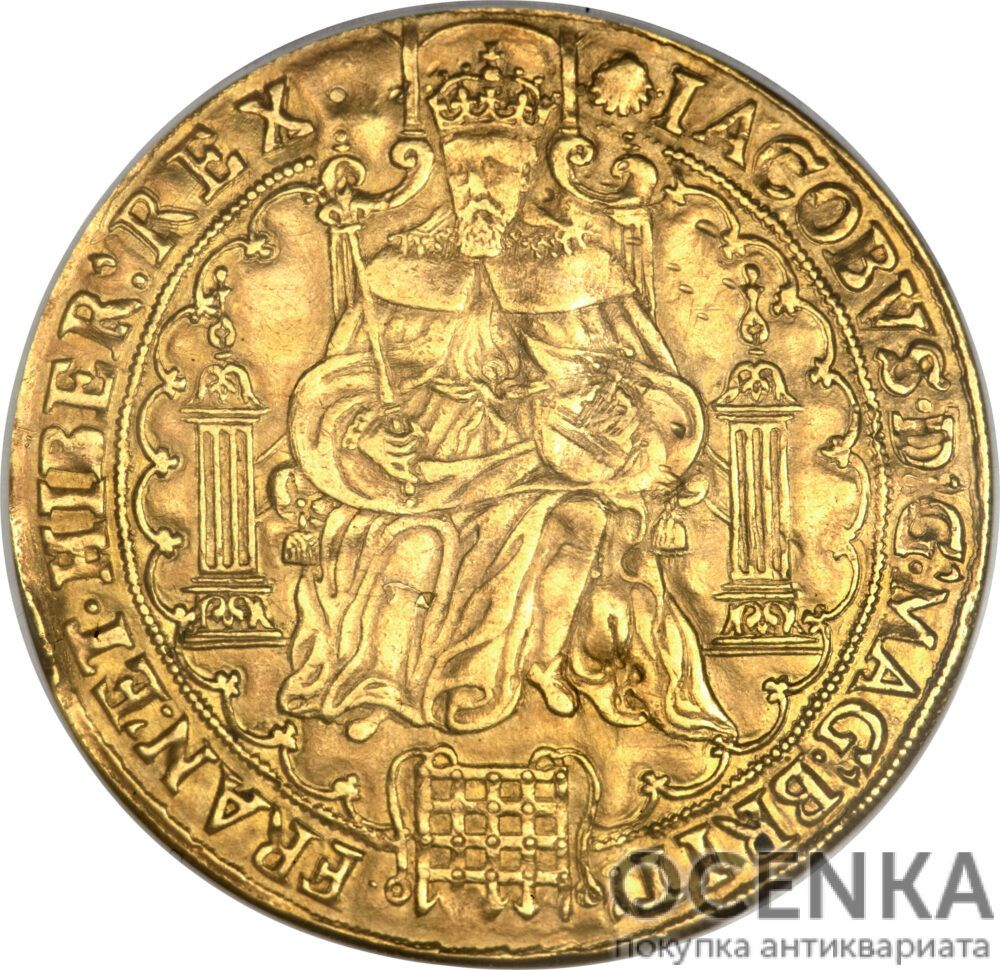 Золотая монета 1 Rose-ryal (розенобль) Великобритания
