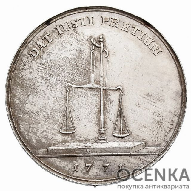 Серебряная монета Талер Средневековой Польши - 8