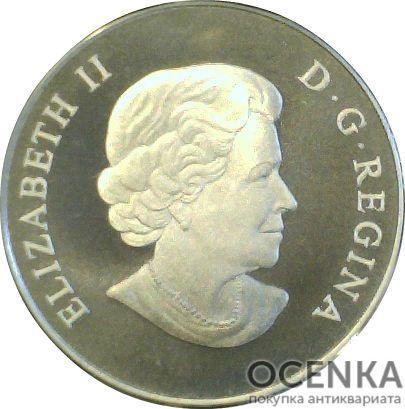 Серебряная монета 100 Долларов Канады - 5