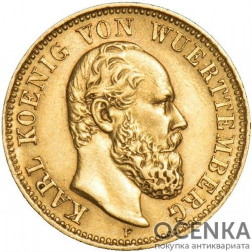 Золотая монета 5 Марок Германия - 9