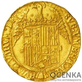 Золотая монета 20 Экскеленцев (20 Excelentes) Испания - 1