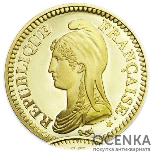 Золотая монета 1 Франк (1 Franc) Франция - 3