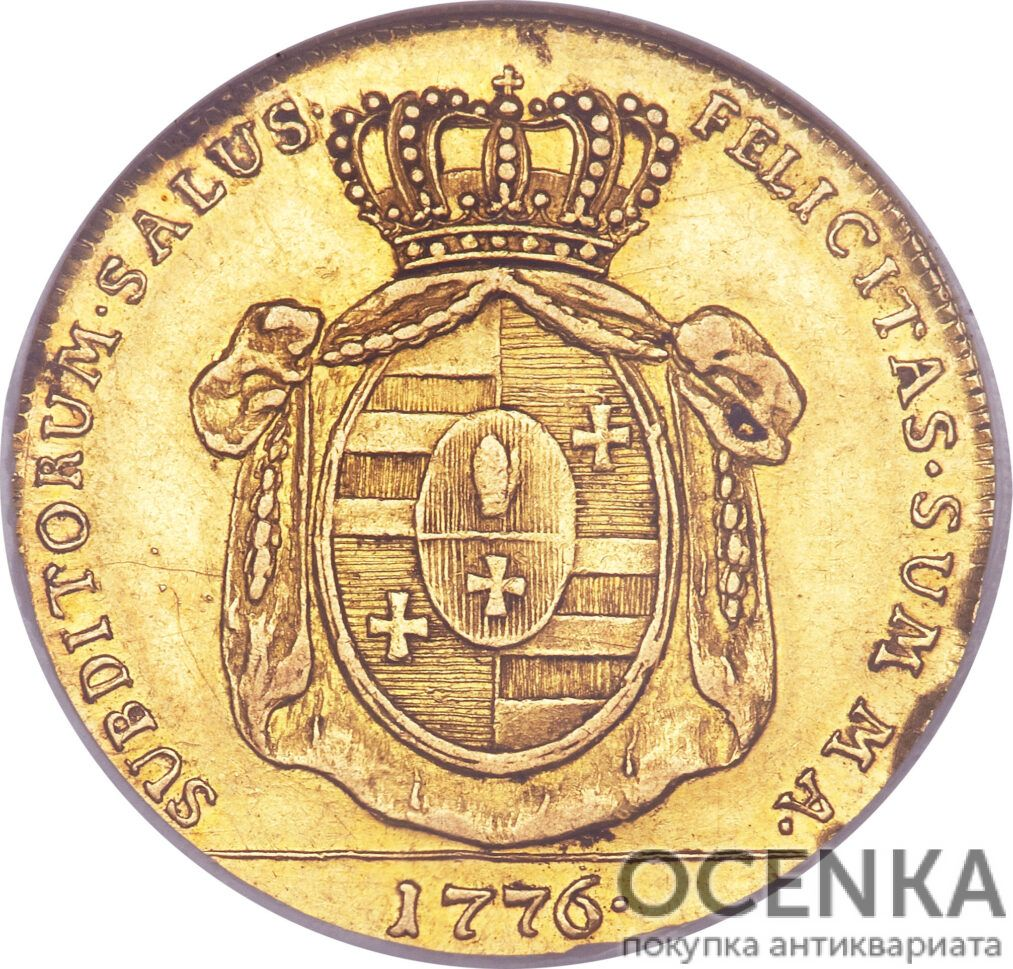 Золотая монета 5 Талеров Германия - 4