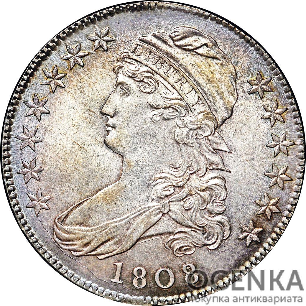 Серебряная монета 50 Центов (50 Cent) США - 3