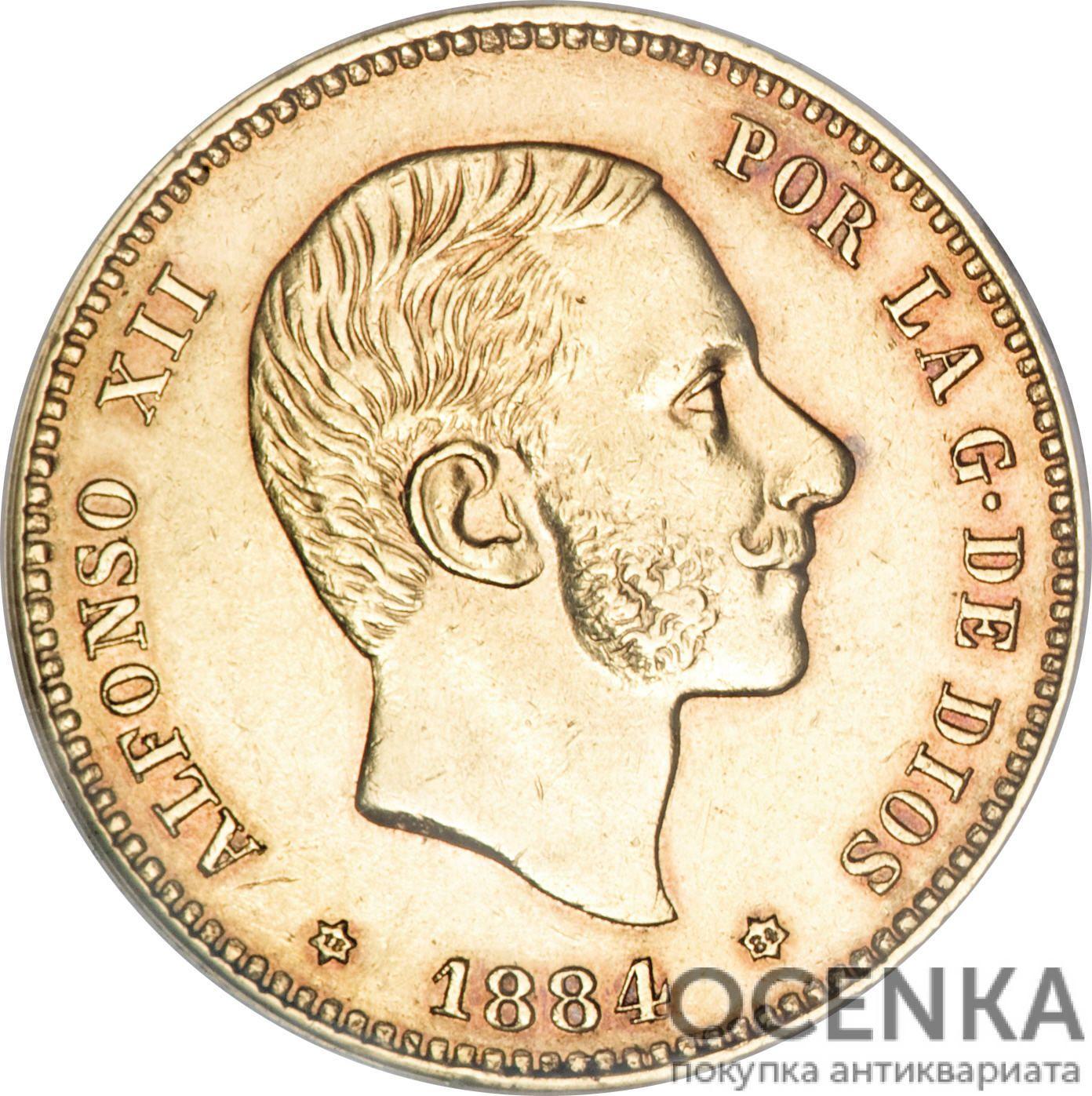 Золотая монета 25 Песет (25 Pesetas) Испания - 5