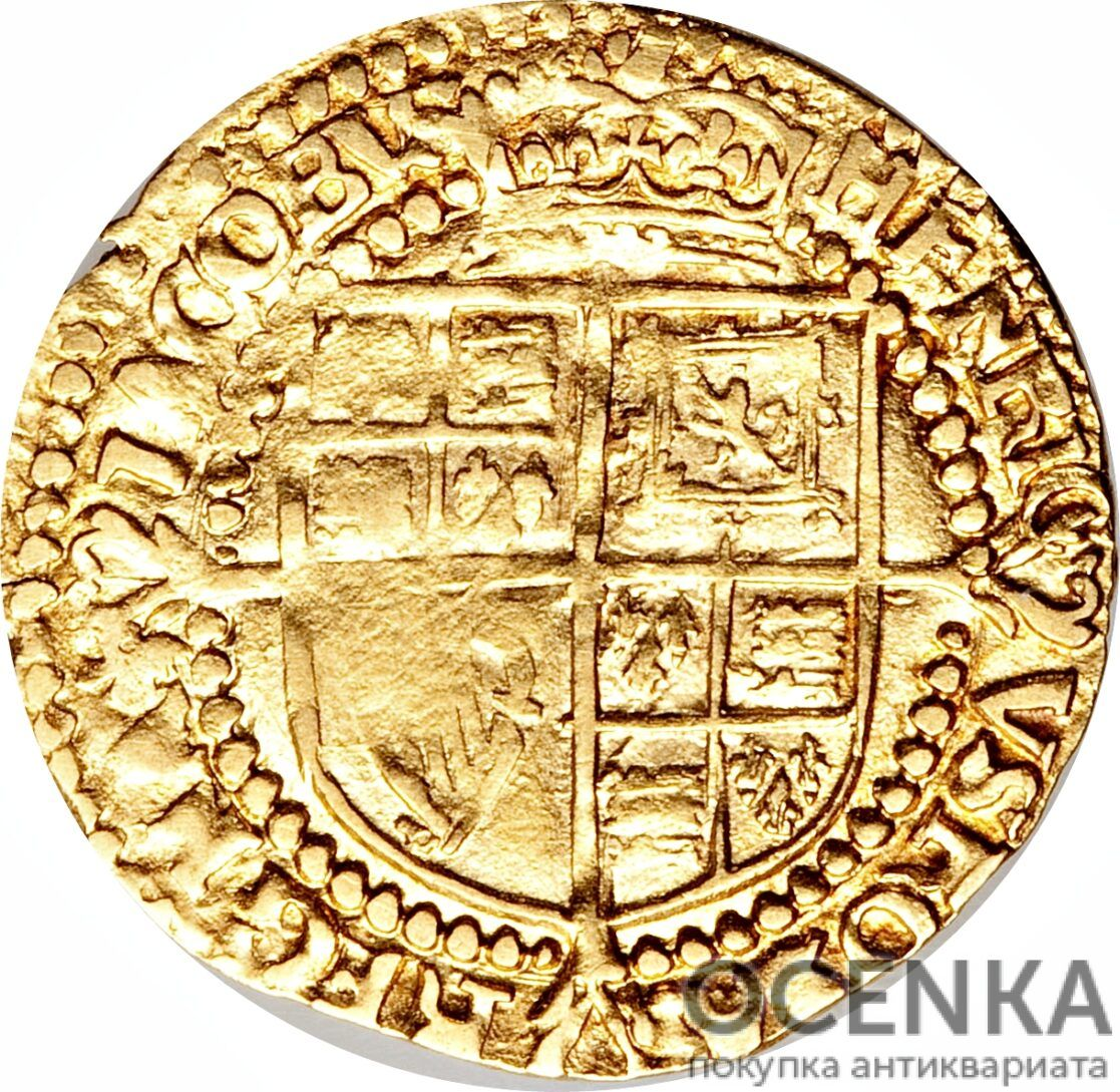 Золотая монета ¼ Laurel (1/4 лореля) Великобритания - 3