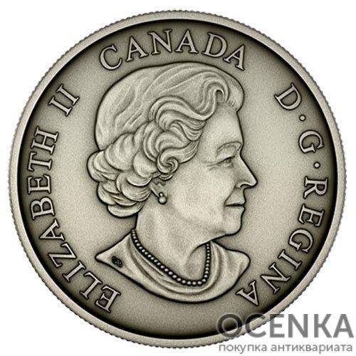 Серебряная монета 5 Центов Канады - 1