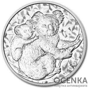 Серебряная монета 50 центов 2008 год. Австралия. Коала