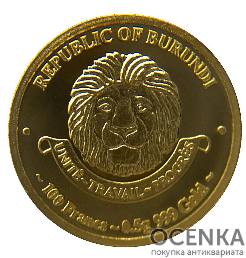 Золотая монета 100 Франков (100 Francs) Бурунди - 5