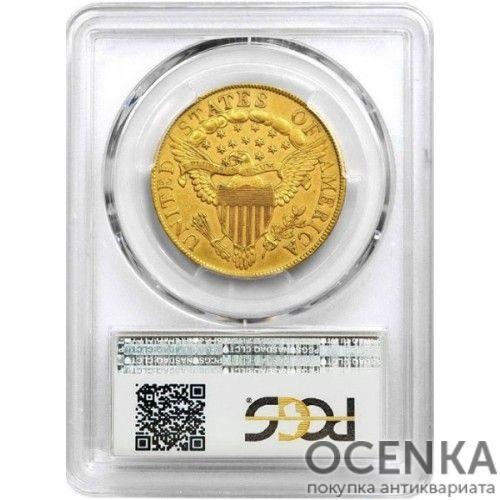 Золотая монета 10 Долларов США в слабе - 1