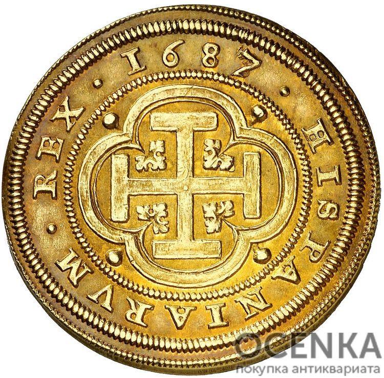 Золотая монета 8 Эскудо (8 Escudos) Испания - 2