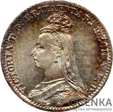 Серебряная монета 1 Пенни (1 Penny) Великобритания - 7