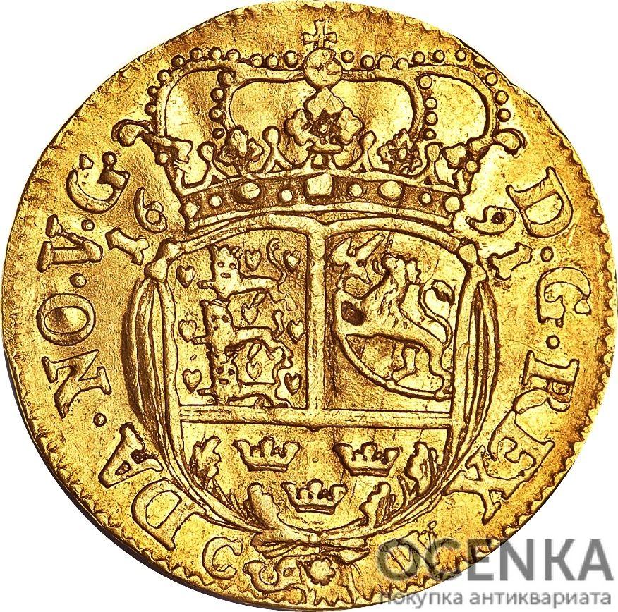 Золотая монета 1 Дукат (1 Ducat) Дания - 4