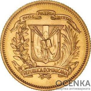 Золотая монета 30 Песо (30 Pesos) Доминикана - 2