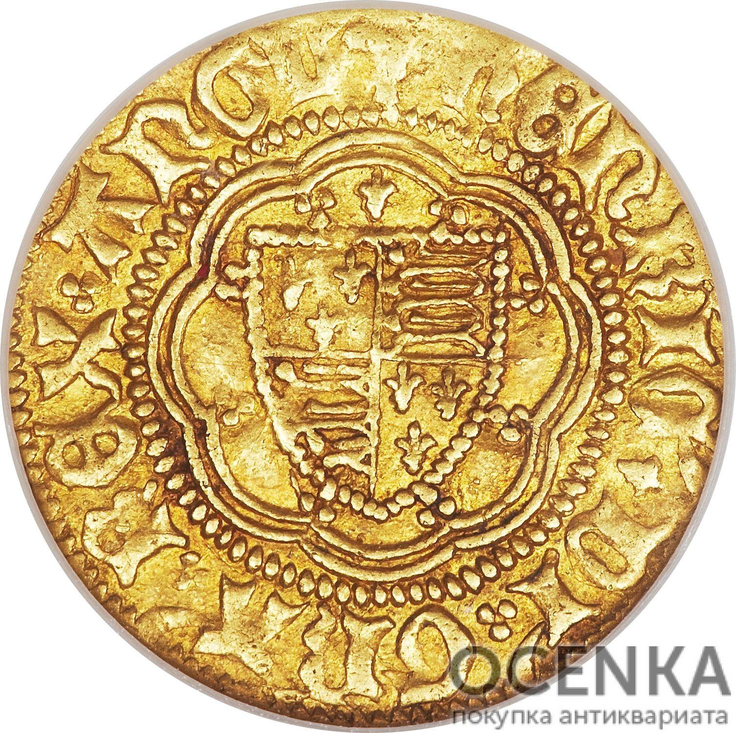 Золотая монета ¼ Noble (1/4 нобля) Великобритания - 7