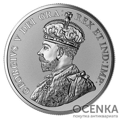 Серебряная монета 5 Центов Канады - 7