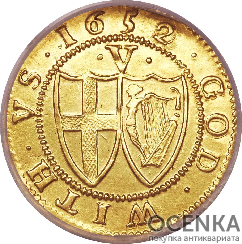 Золотая монета 1 Crown (крона) Великобритания - 11