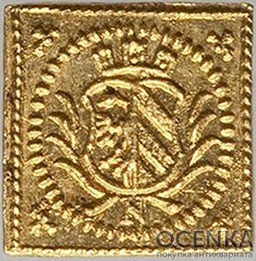 Золотая монета ⅛ Дуката Германия - 3