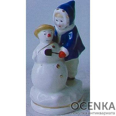 Статуэтка Ребенок со снеговиком