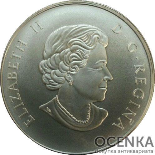 Серебряная монета 50 Долларов Канады - 2