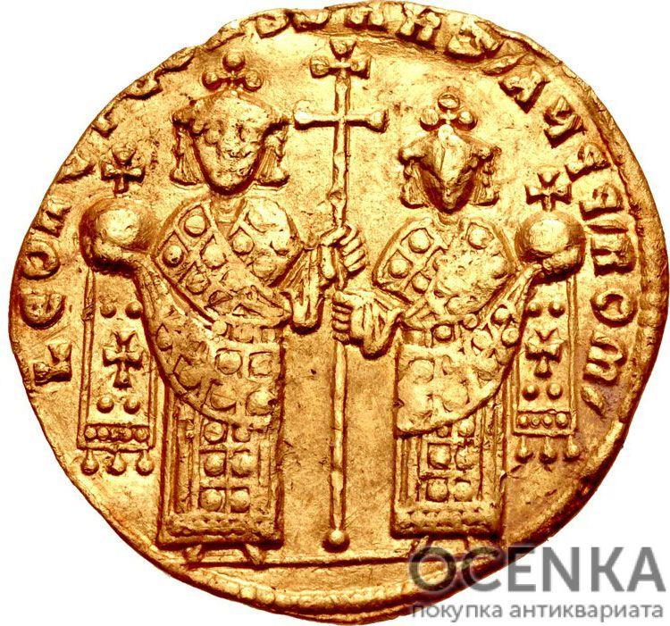 Золотой солид Византии, Лев VI Мудрый, 886-912 год - 1